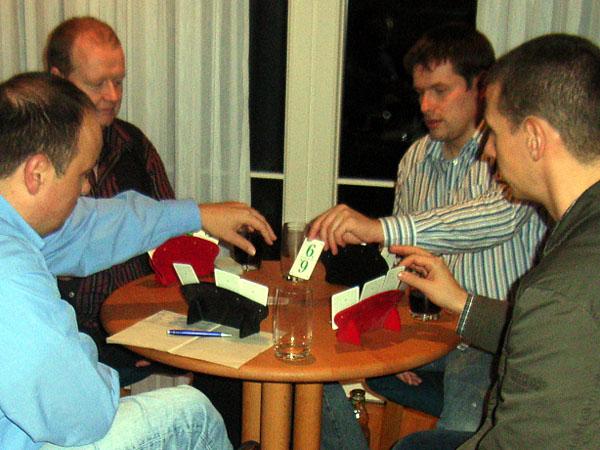 Spielbetrieb mit dem lange verschollenen Janz-Besteck. 2006